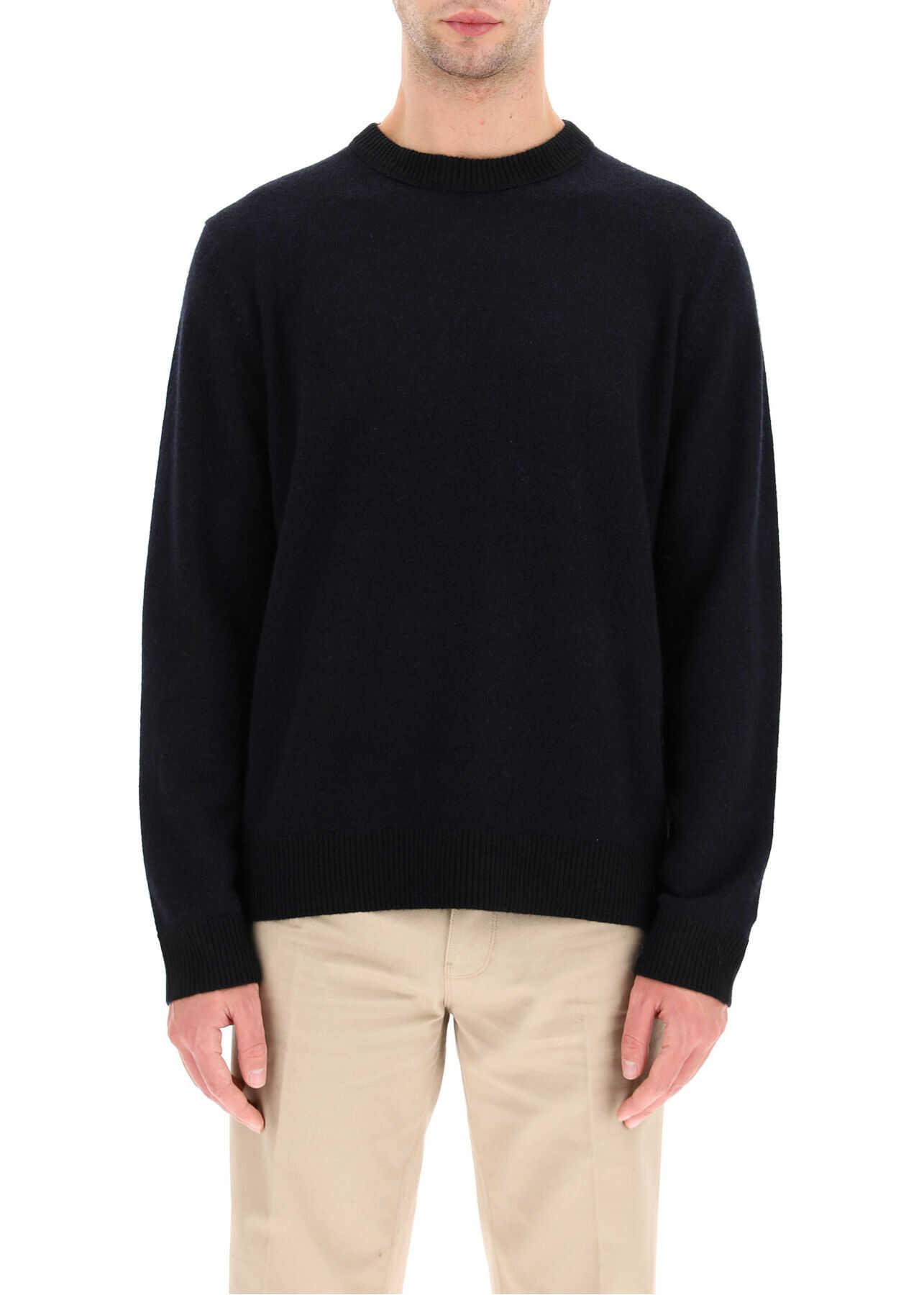 Acne Studios Cashmere Sweater BLACK PURPLE imagine
