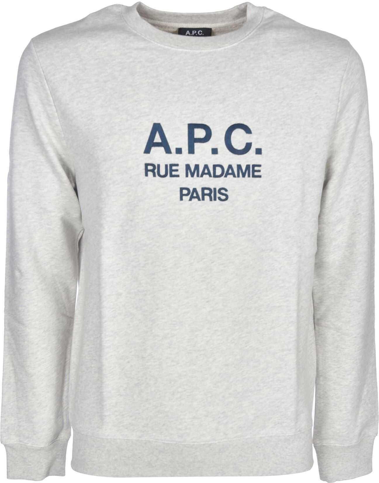 A.P.C. Rufus Crewneck Sweatshirt In Light Grey Grey imagine