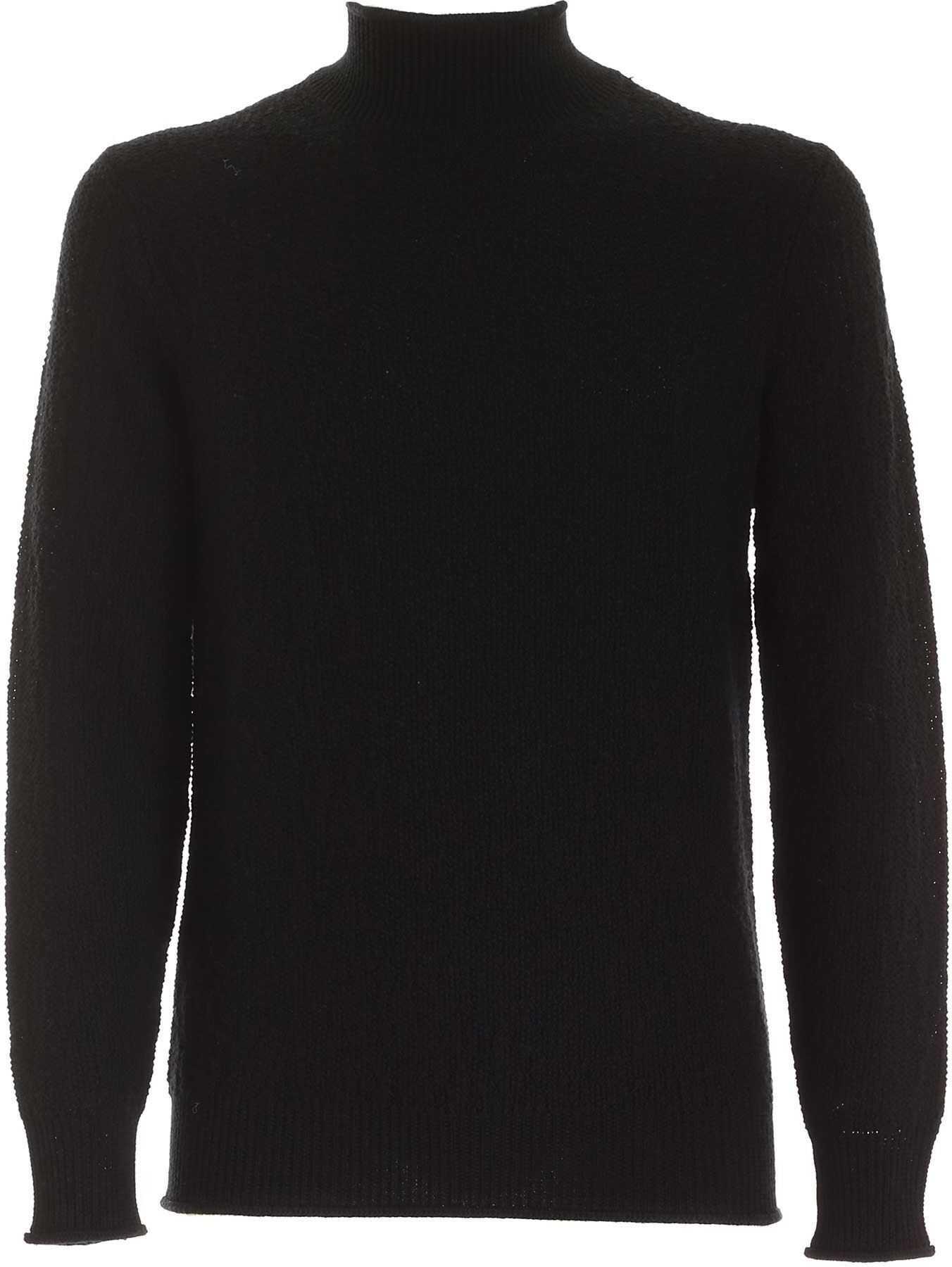 Kangra Cashmere High Neck Pullover In Black Black imagine