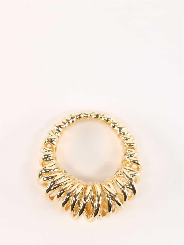 Bottega Veneta Silver Ring Gold