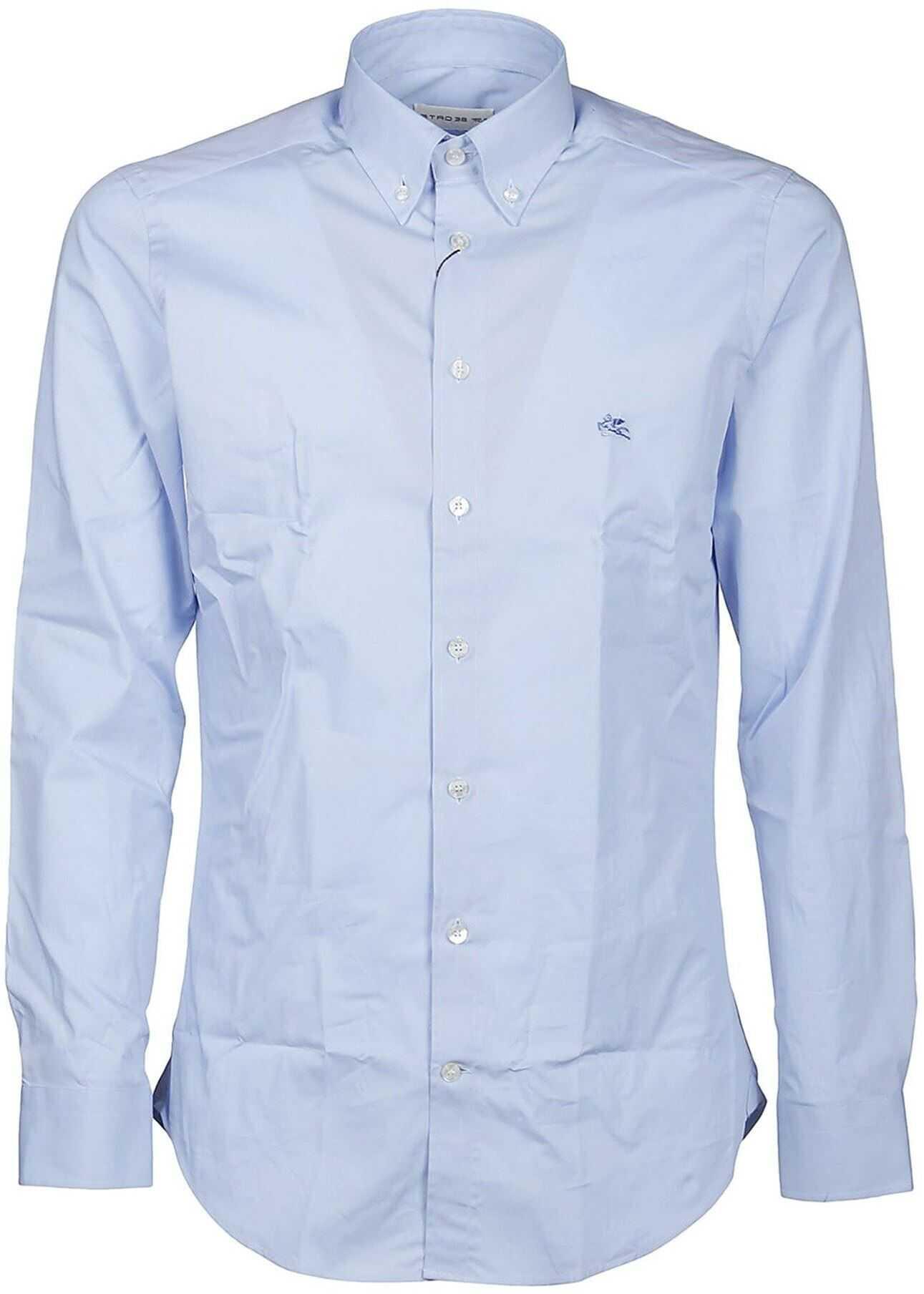 ETRO Cotton Shirt Light Blue imagine