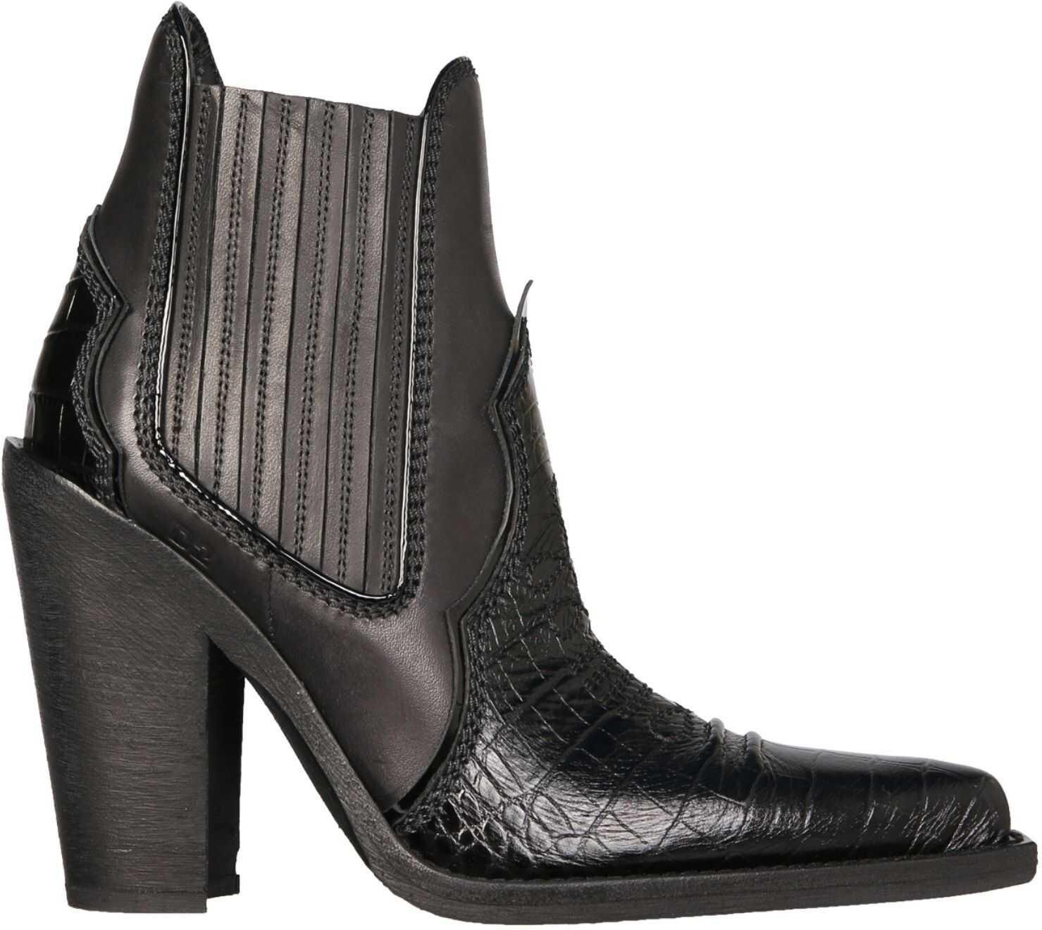 DSQUARED2 Texan Boots ABW0120_02703469M436 BLACK imagine b-mall.ro