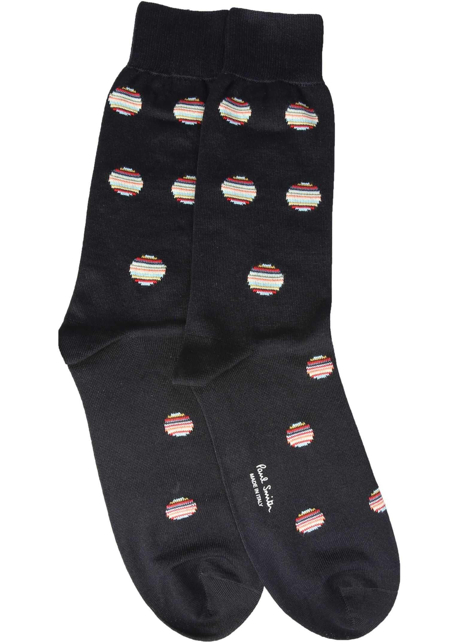 Paul Smith Polka Dot Multistripes Socks GREY imagine