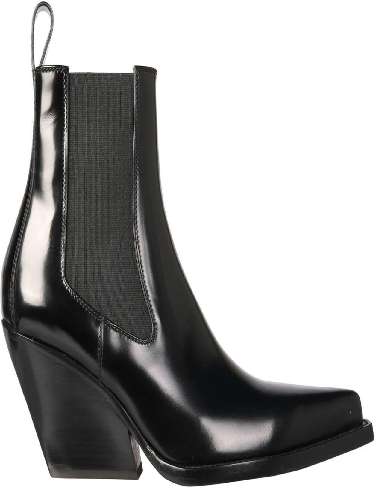 Bottega Veneta Lean Boots 639826_V01M01000 BLACK imagine b-mall.ro