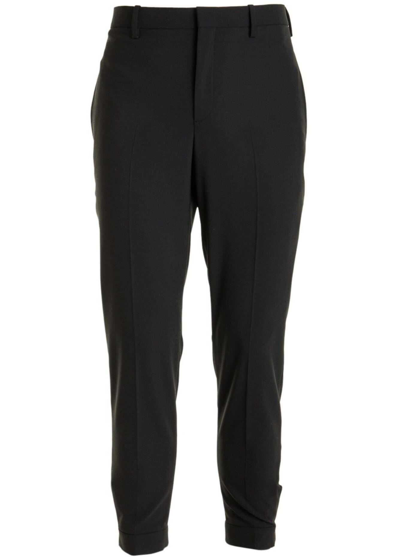 Neil Barrett Decorative Zip Trousers Black imagine