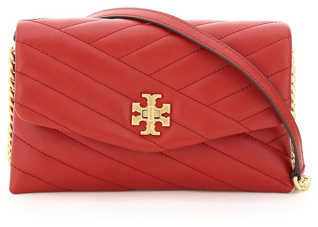Tory Burch Chevron Kira Mini Bag 64068 RED STONE imagine b-mall.ro