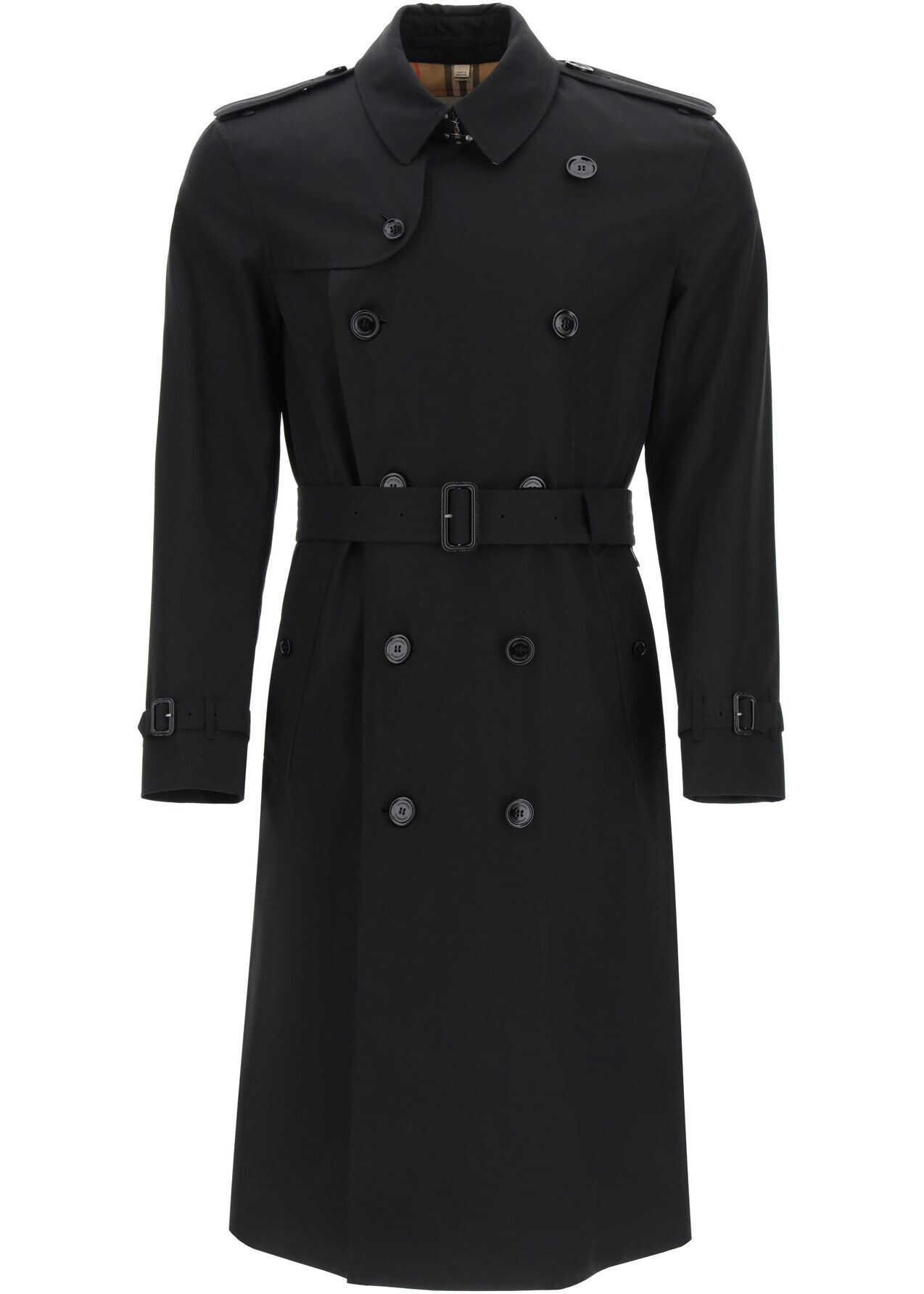 Burberry Kensington Long Trench Coat BLACK imagine