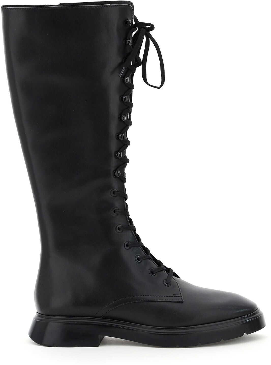 Stuart Weitzman Mckenzee Tall Leather Boots MC KENZIE TALL BLACK imagine b-mall.ro