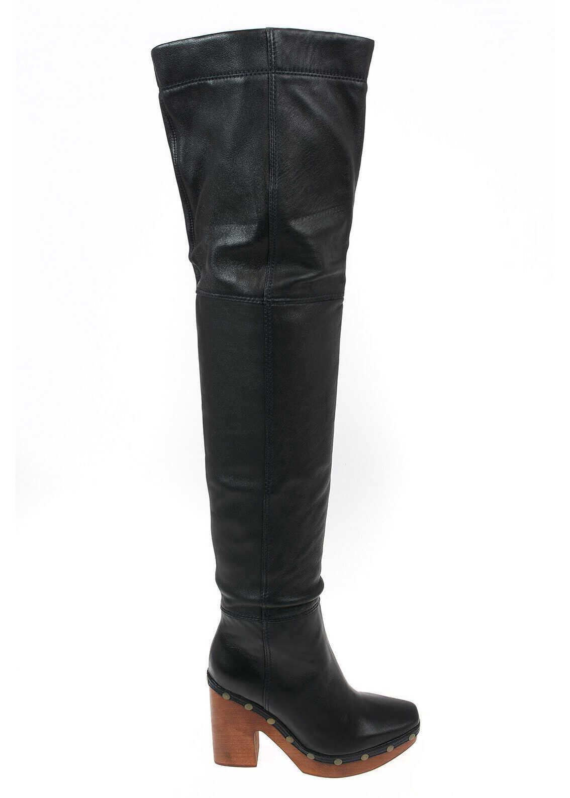 JACQUEMUS 11cm Leather Cuissard BLACK imagine b-mall.ro