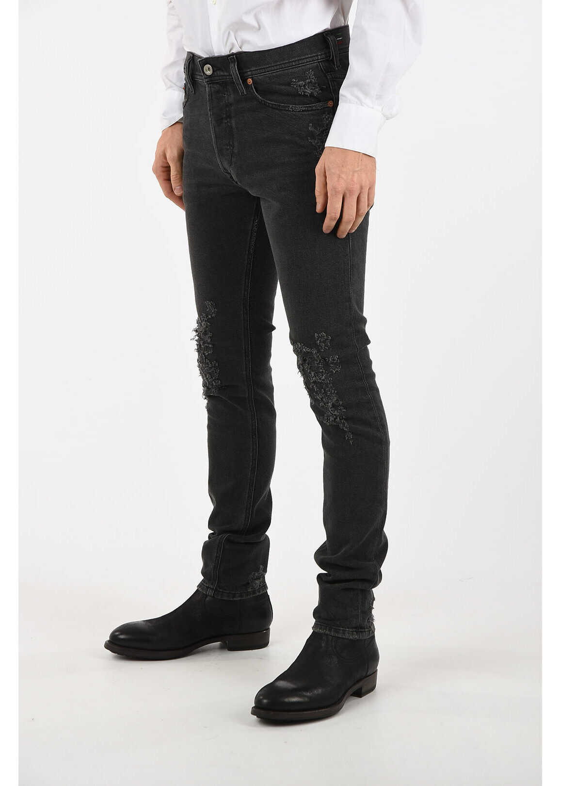Diesel 15cm Distressed TEPPHAR Jeans L32 BLACK imagine