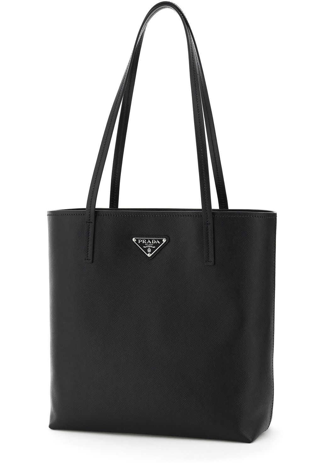 Prada Saffiano Small Tote Bag 1BG342 V OOM 053 NERO imagine b-mall.ro