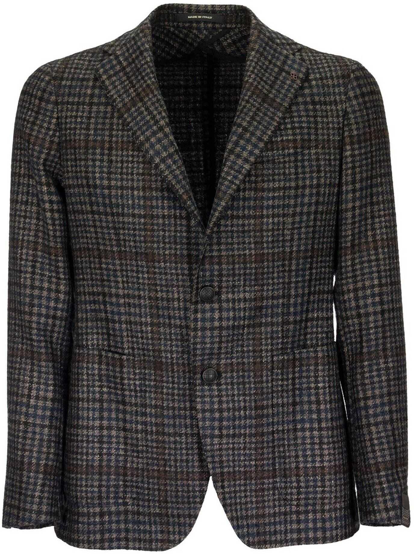 Tagliatore Prince Of Wales Patterned Blazer Multi imagine