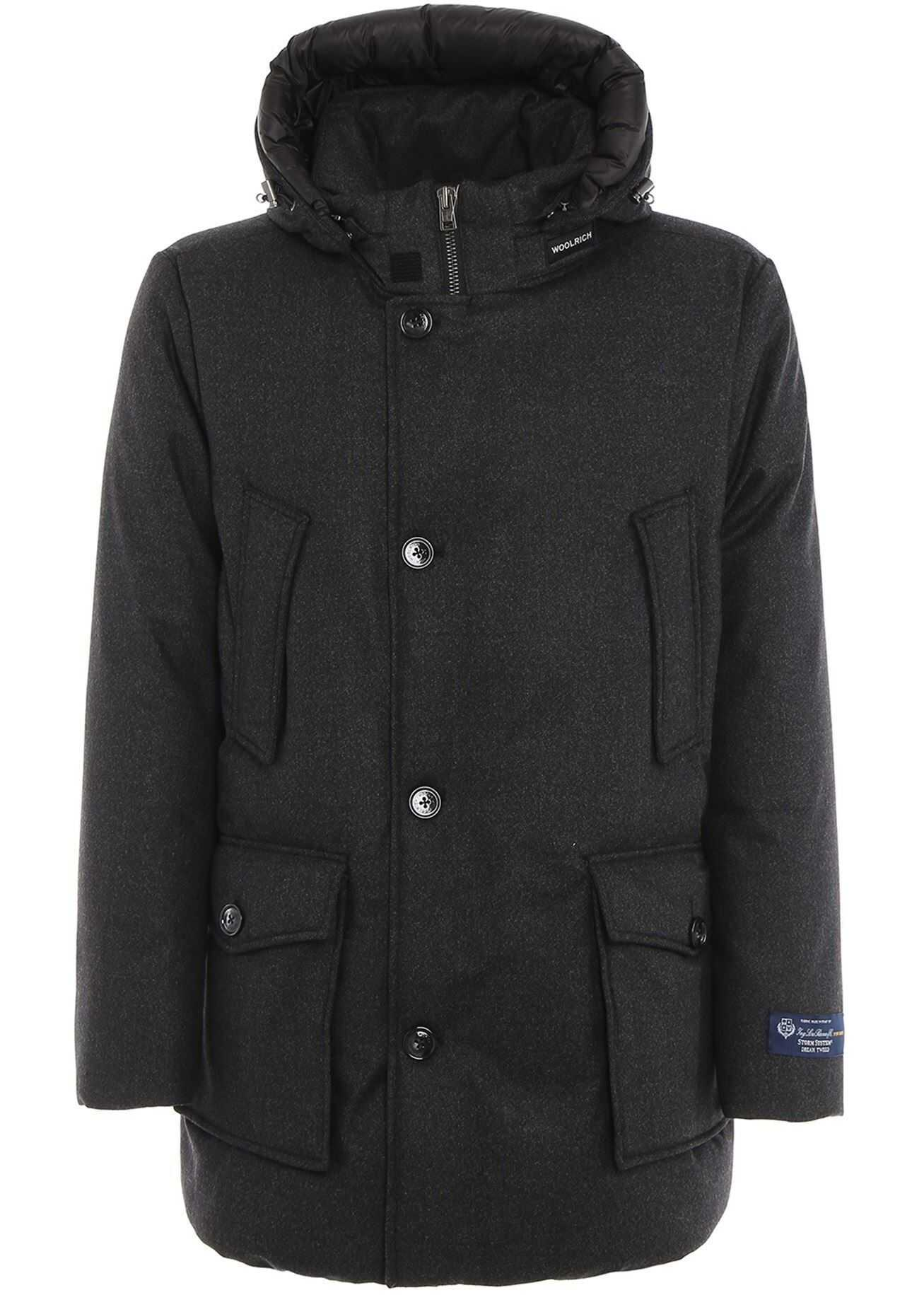 Woolrich Luxe Arctic Parka Padded Coat Grey imagine