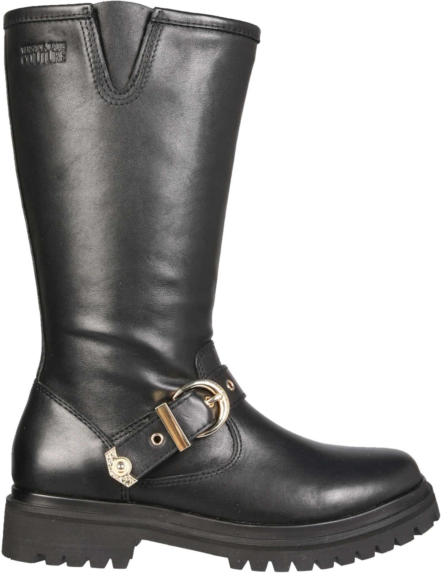 Versace Jeans Couture Boots With Heritage Tank Details E0VZAS40_71563899 BLACK imagine b-mall.ro