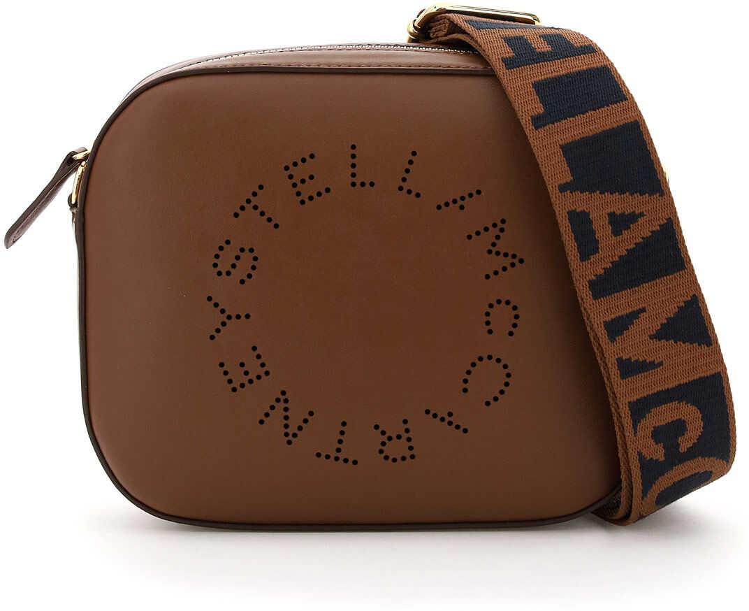 Stella McCartney Camera Bag With Perforated Stella Logo 700072 W8542 CINNAMON imagine b-mall.ro