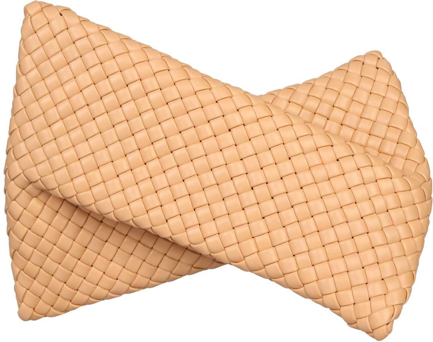 "Bottega Veneta ""The Crisscross"" Clutch 640678_V01D12700 BEIGE imagine b-mall.ro"