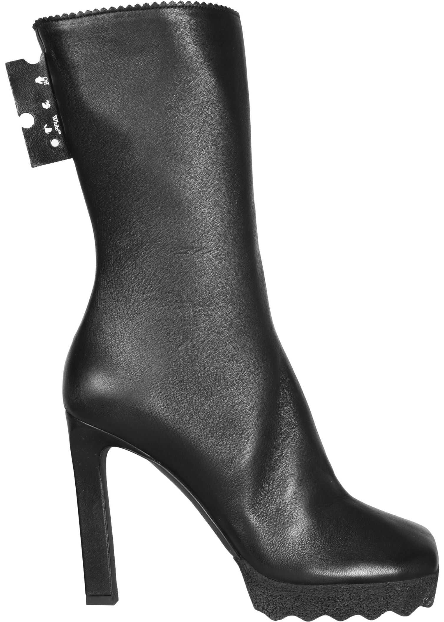 Off-White Boots With Heel OWID005_F20LEA0011000 BLACK imagine b-mall.ro