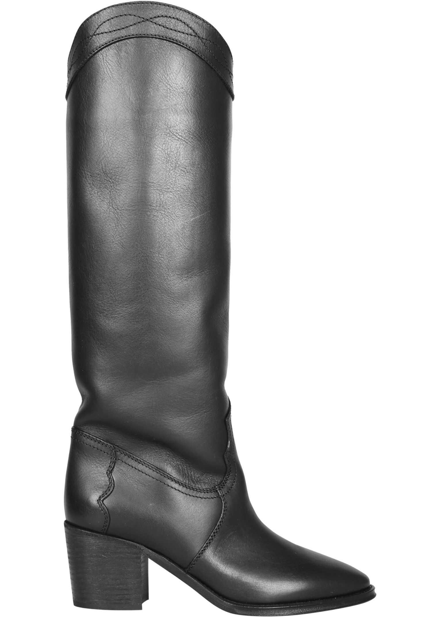 "Saint Laurent ""Kate"" Boots 630110_1UP001000 BLACK imagine b-mall.ro"