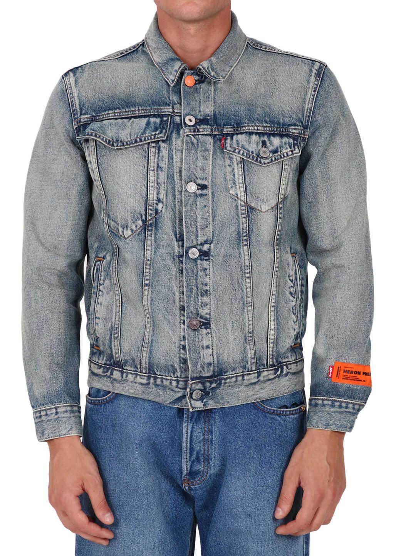 Heron Preston Levi's X Heron Preston Jacket Blue imagine