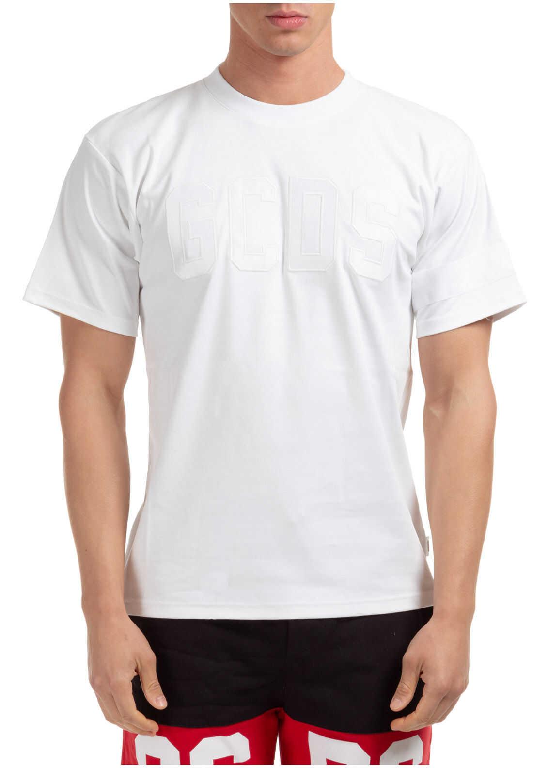 GCDS Neckline Jumper White imagine