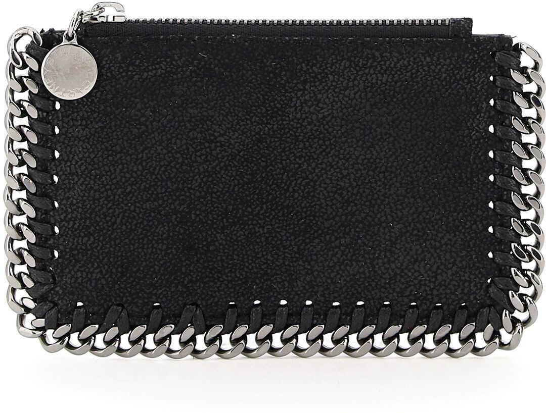 Stella McCartney Falabella Cardholder Pouch 422364 W9132 BLACK imagine b-mall.ro