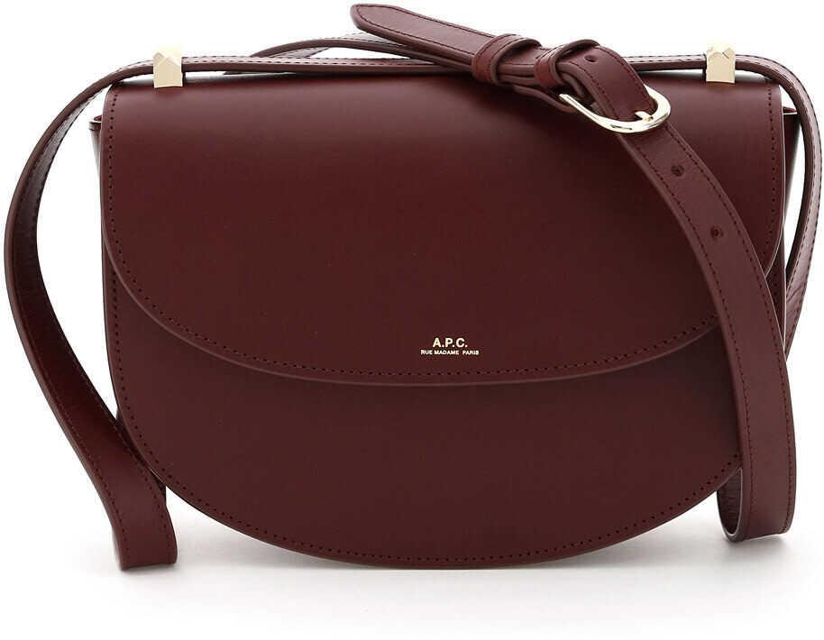 A.P.C. A.p.c. Geneve Crossbody Bag PXAWV F61161 VINO imagine b-mall.ro
