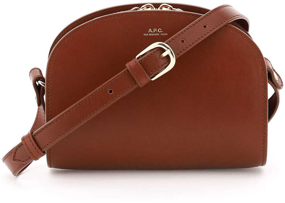 A.P.C. A.p.c. Demi Lune Crossbody Mini Bag PXAWV F61392 NOISETTE imagine b-mall.ro