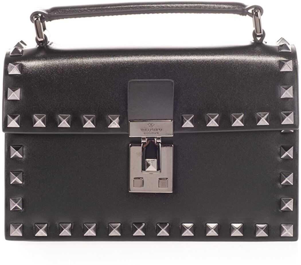 Valentino Garavani Rockstud Bag In Black UY0B0A25PXF 0NO Black imagine b-mall.ro
