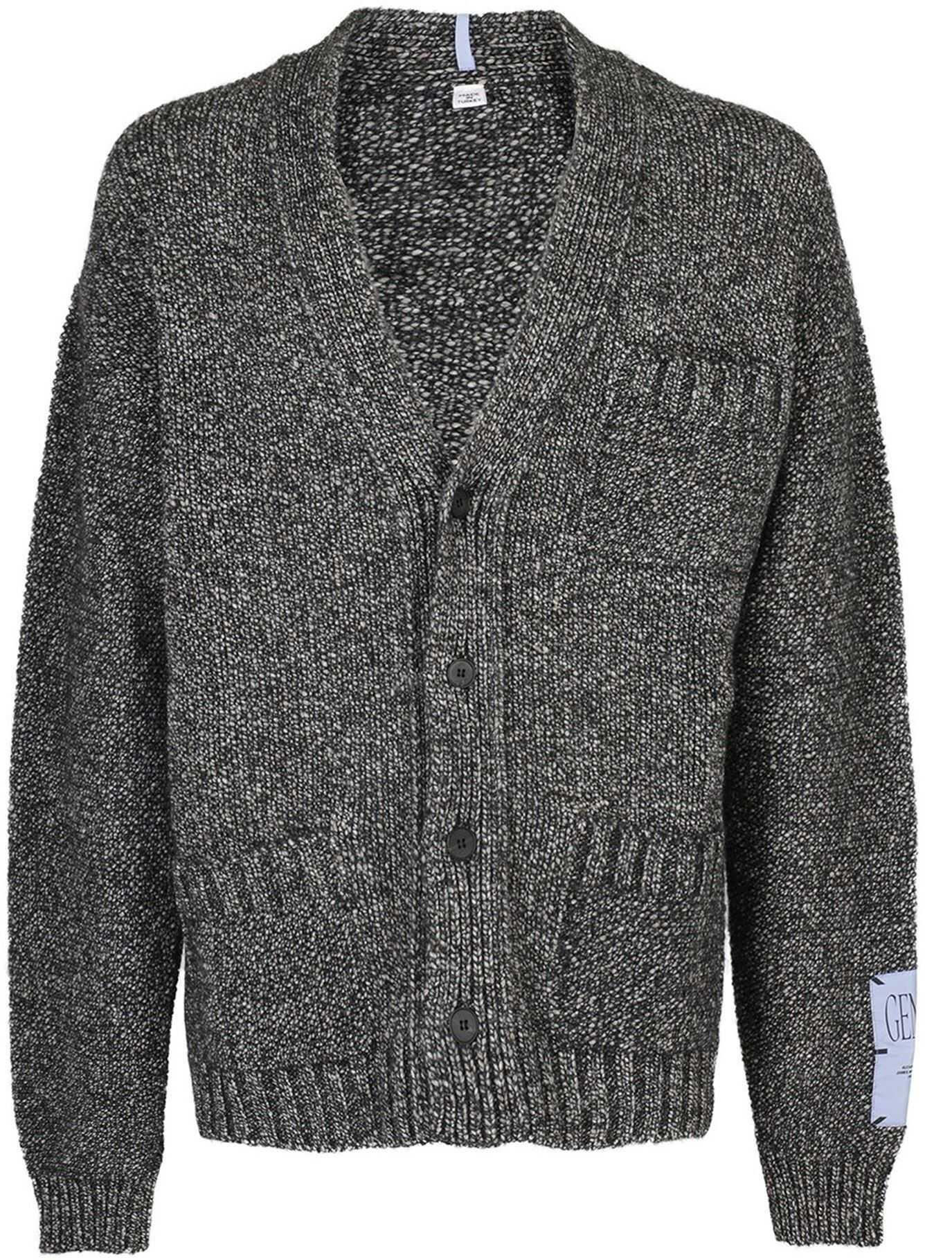 Alexander McQueen Mélange Wool Cardigan Grey imagine