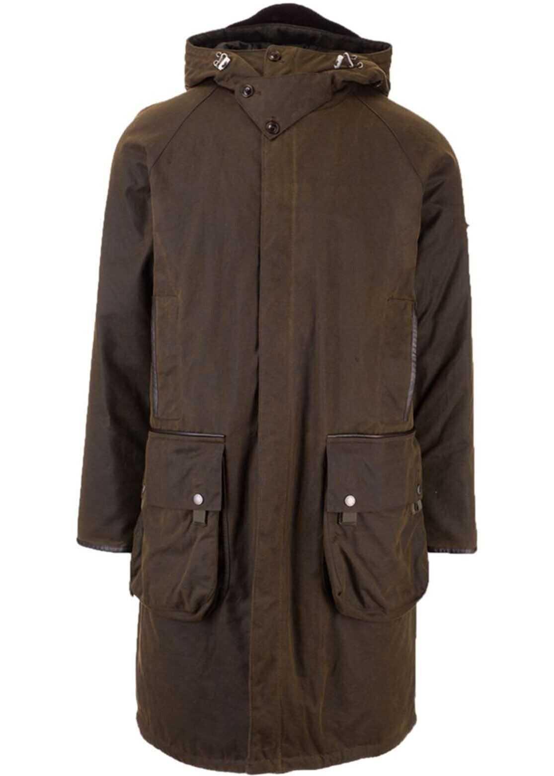 Barbour Coat In Green Green imagine