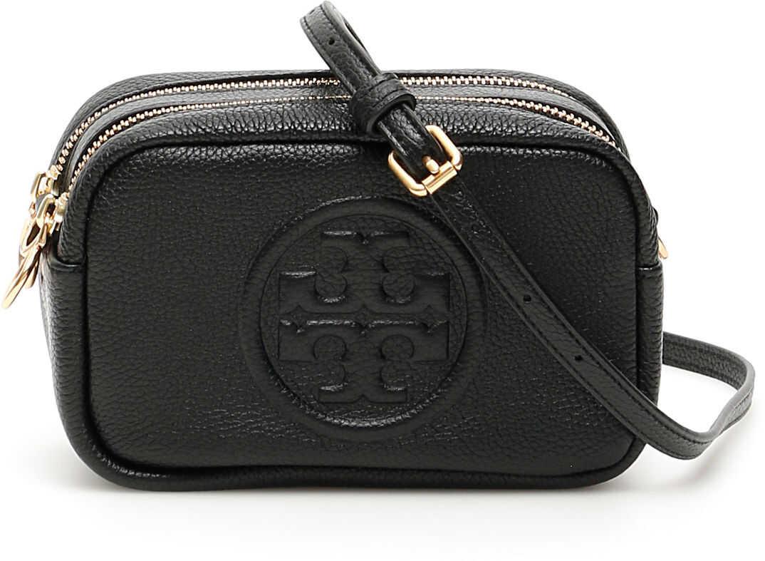 Tory Burch Perry Bombe' Mini Camera Bag 55691 BLACK imagine b-mall.ro