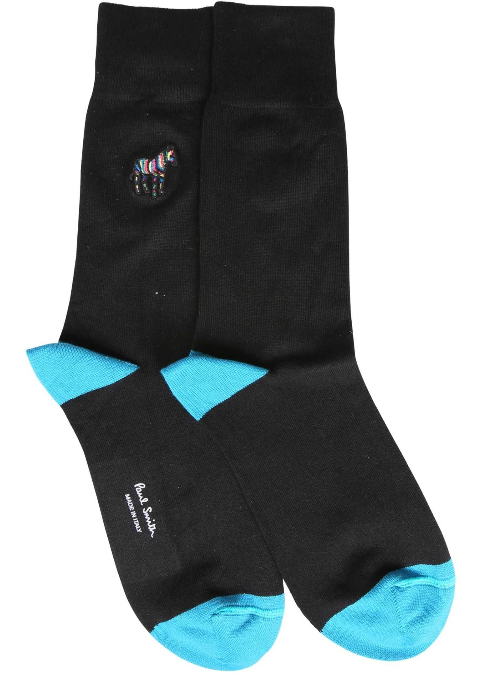Paul Smith Sock With Zebra BLACK imagine