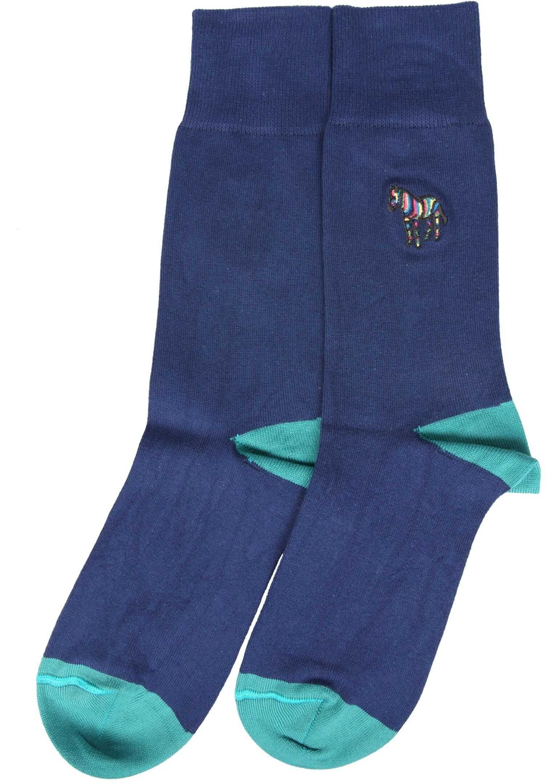Paul Smith Socks With Zebra Logo BLUE imagine