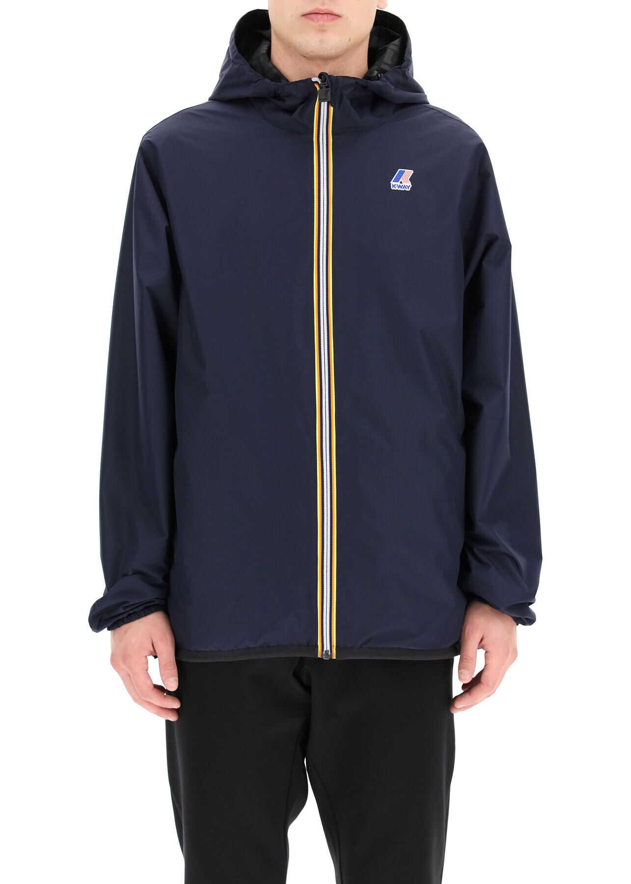 Fendi X K-Way Reversible Windbreaker Jacket BLACK BLUE imagine