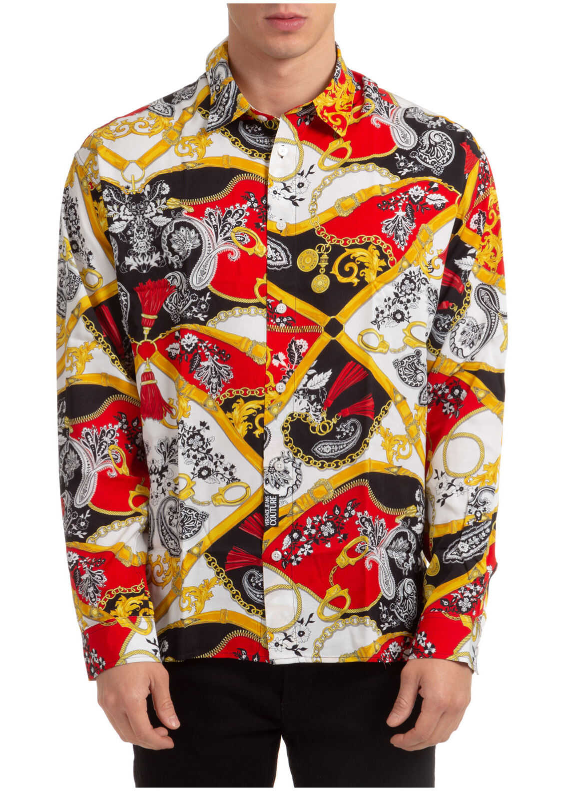 Versace Jeans Couture Dress Shirt Red imagine