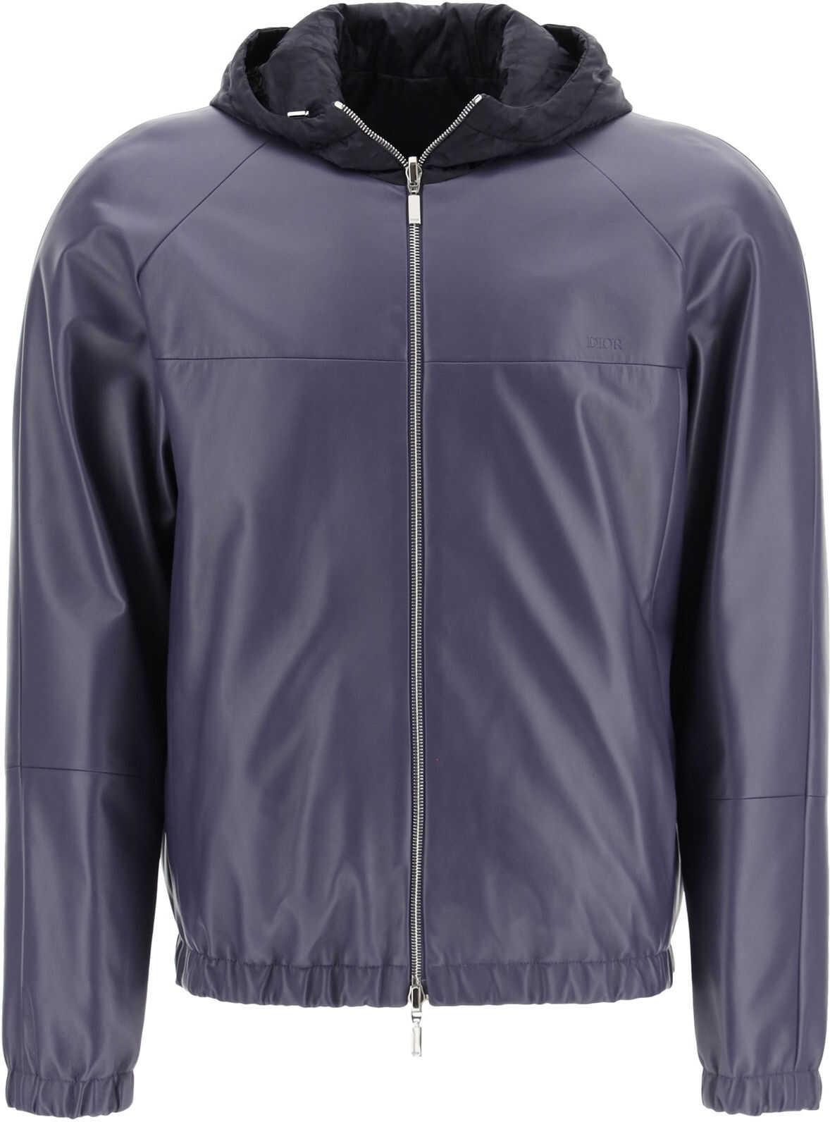 Dior Oblique Reversible Leather Jacket PINK PURPLE imagine
