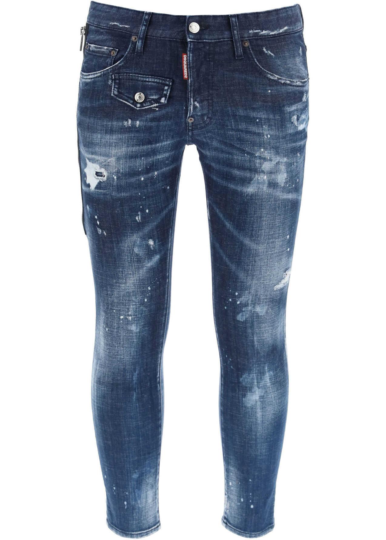 DSQUARED2 Skater Fit Jeans BLUE imagine