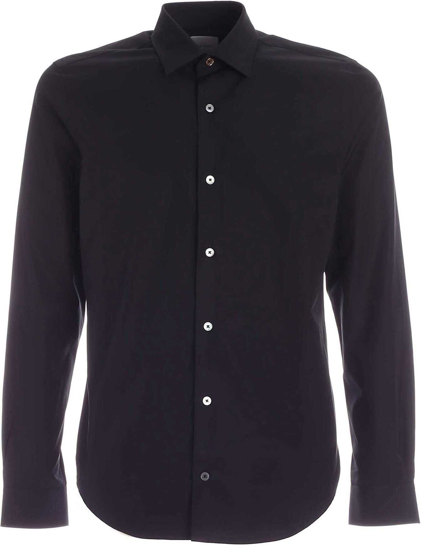 Paul Smith Kensington Fit Shirt In Black Black imagine