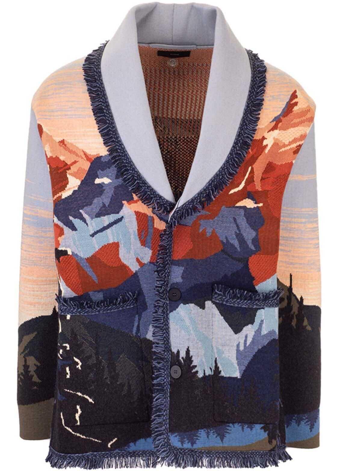 ALANUI Mountain Dusk Cardigan In Multicolor Multi imagine