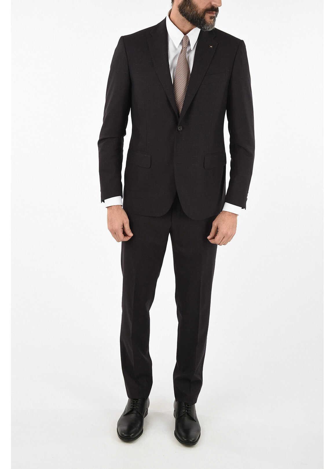 CORNELIANI CC COLLECTION side vent drop 7R 2-button RIGHT suit VIOLET imagine