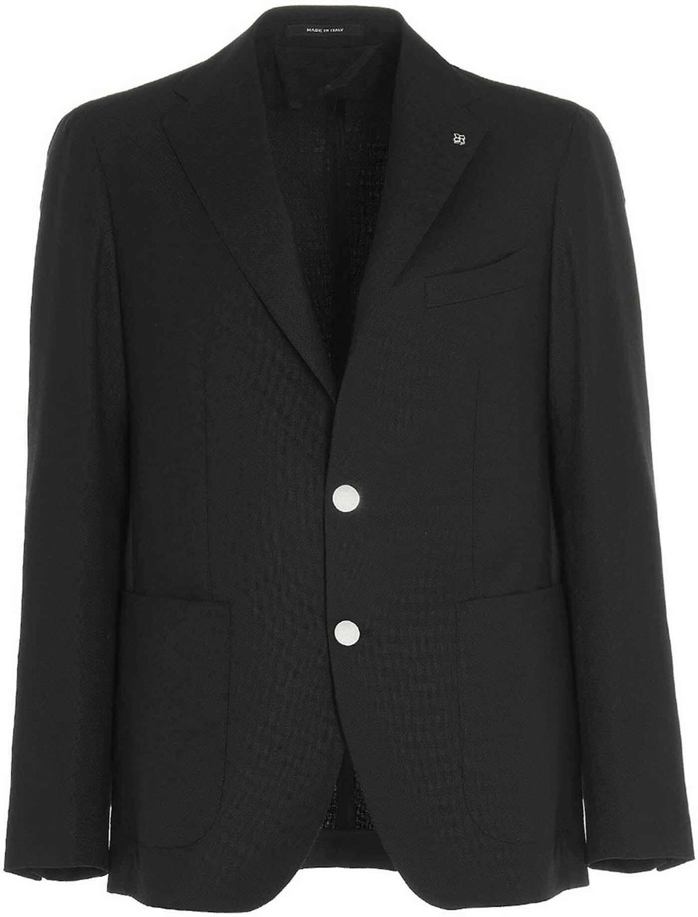 Tagliatore Montecarlo Blazer In Black Black imagine