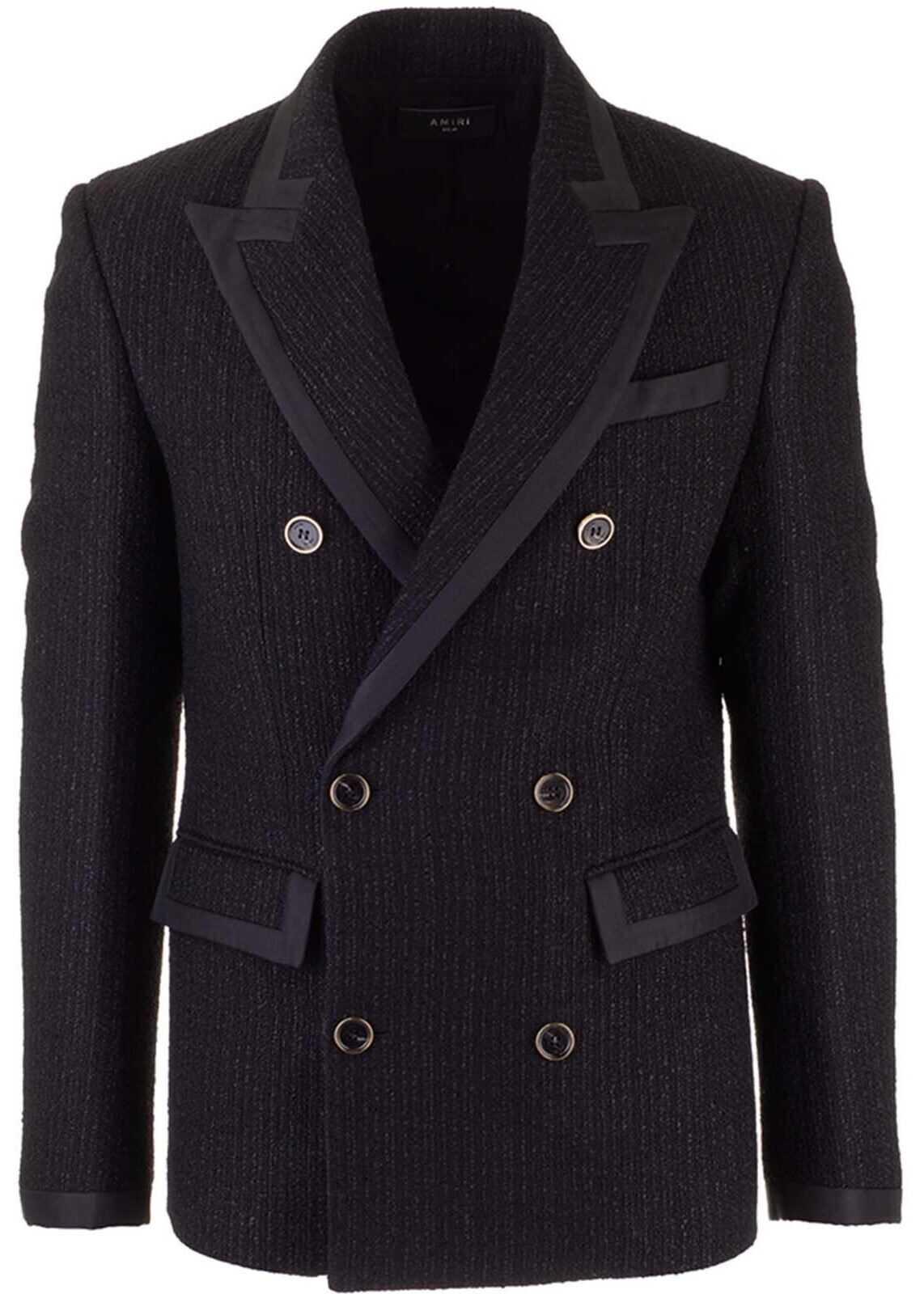 AMIRI Double-Breasted Jacket In Black Black imagine