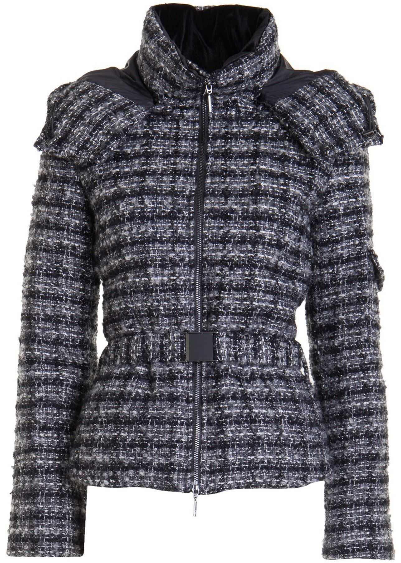Wool Blend Hooded Jacket