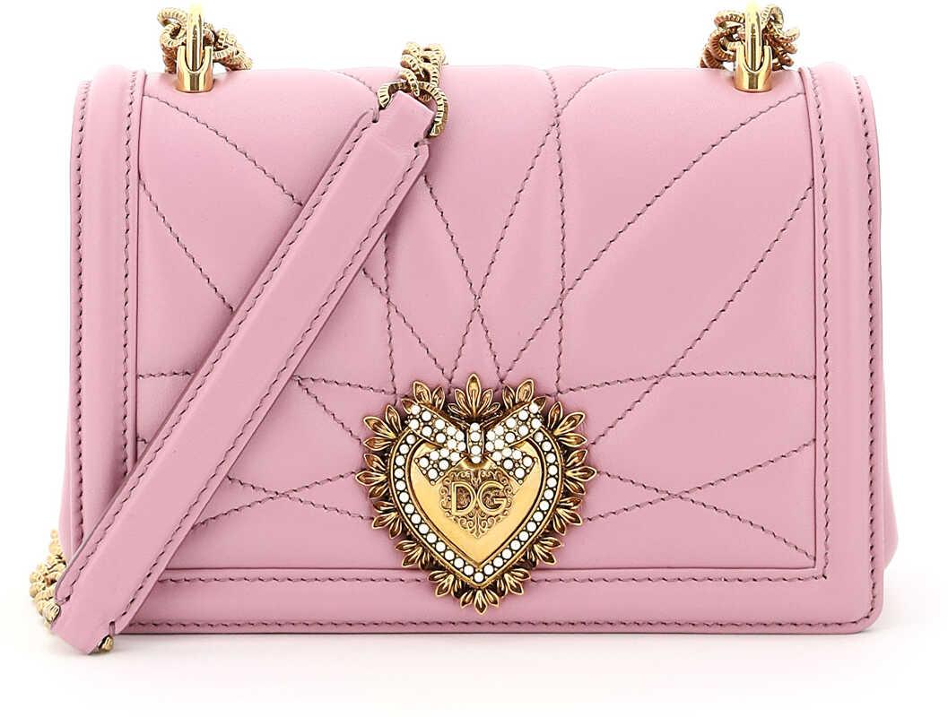 Dolce & Gabbana Devotion Crossbody Mini Bag BB6880 AV967 ROSA imagine b-mall.ro