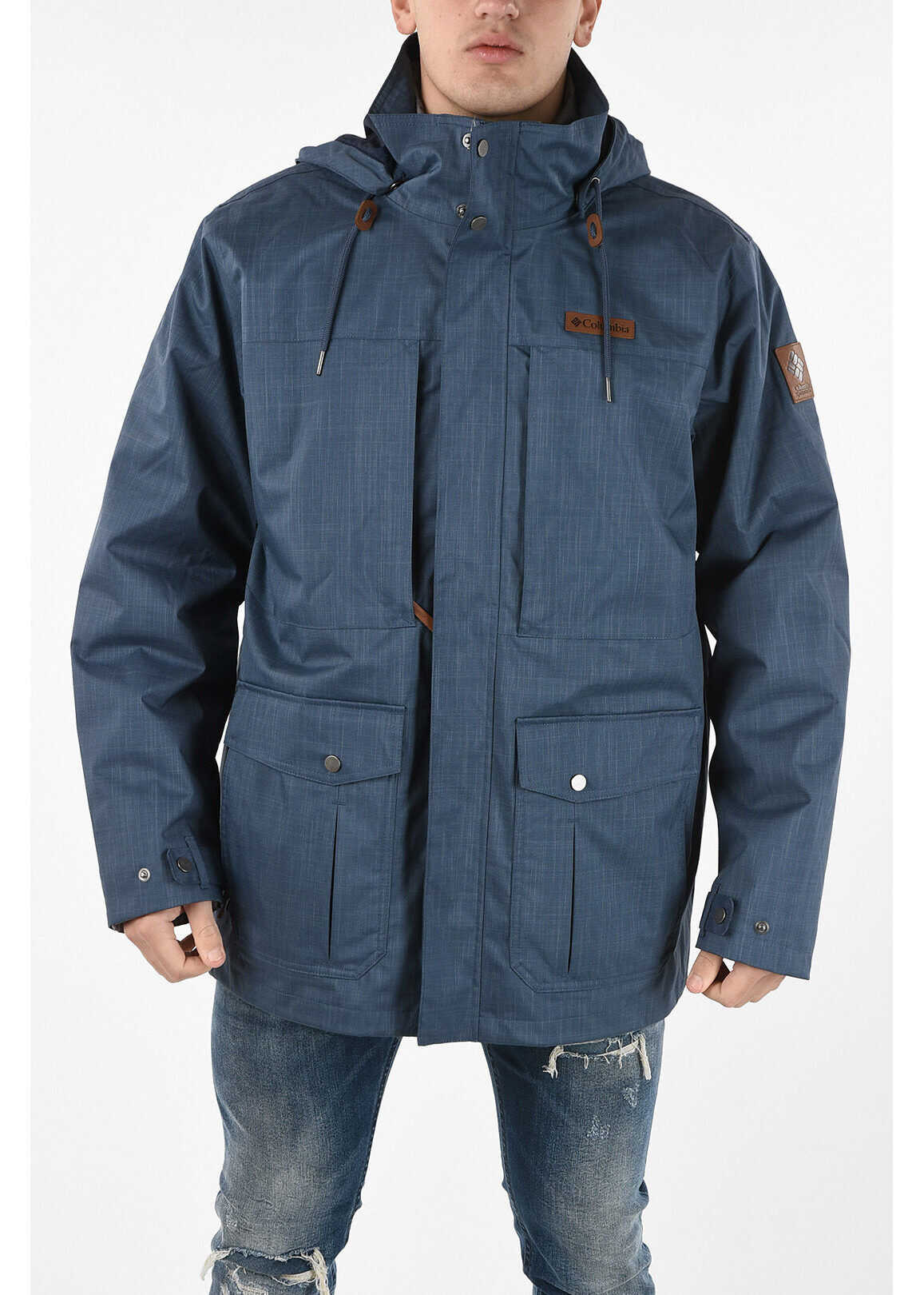 Columbia Parka HORIZONS PINE INTERCHANGE with Removable Hood BLUE imagine