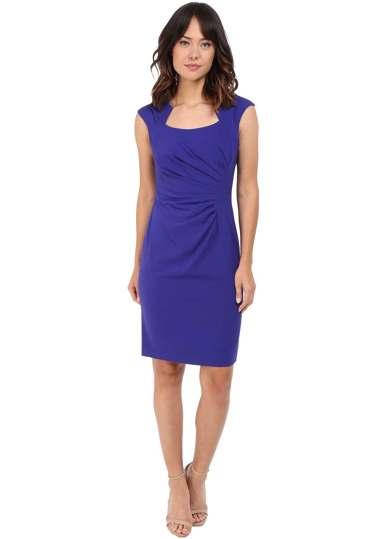 Calvin Klein Cap Sleeve Ruched Sheath Dress Byzentine