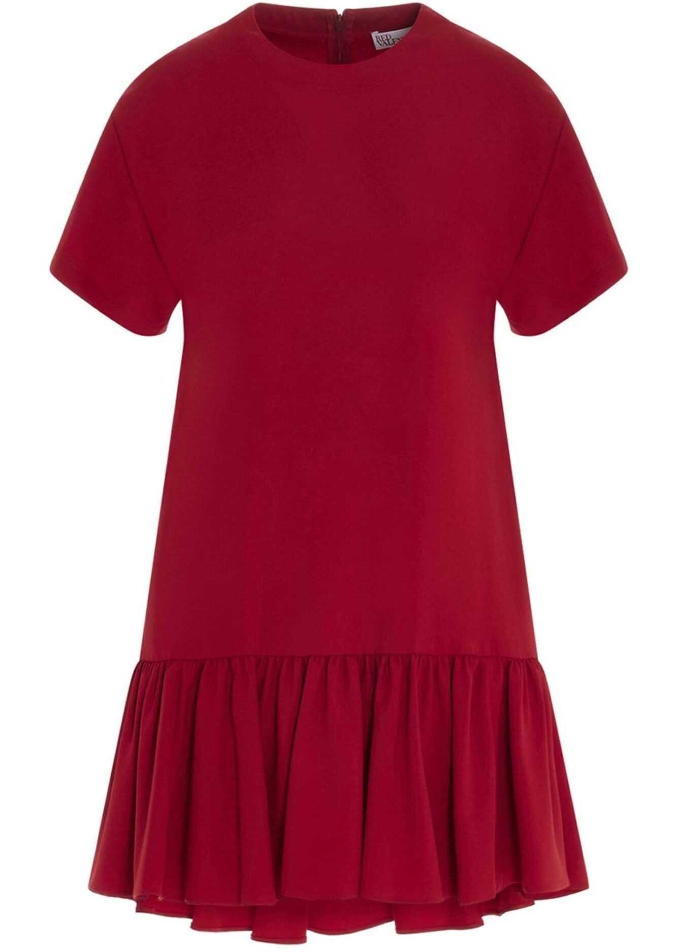 RED VALENTINO Flounced Dress In Red* Red