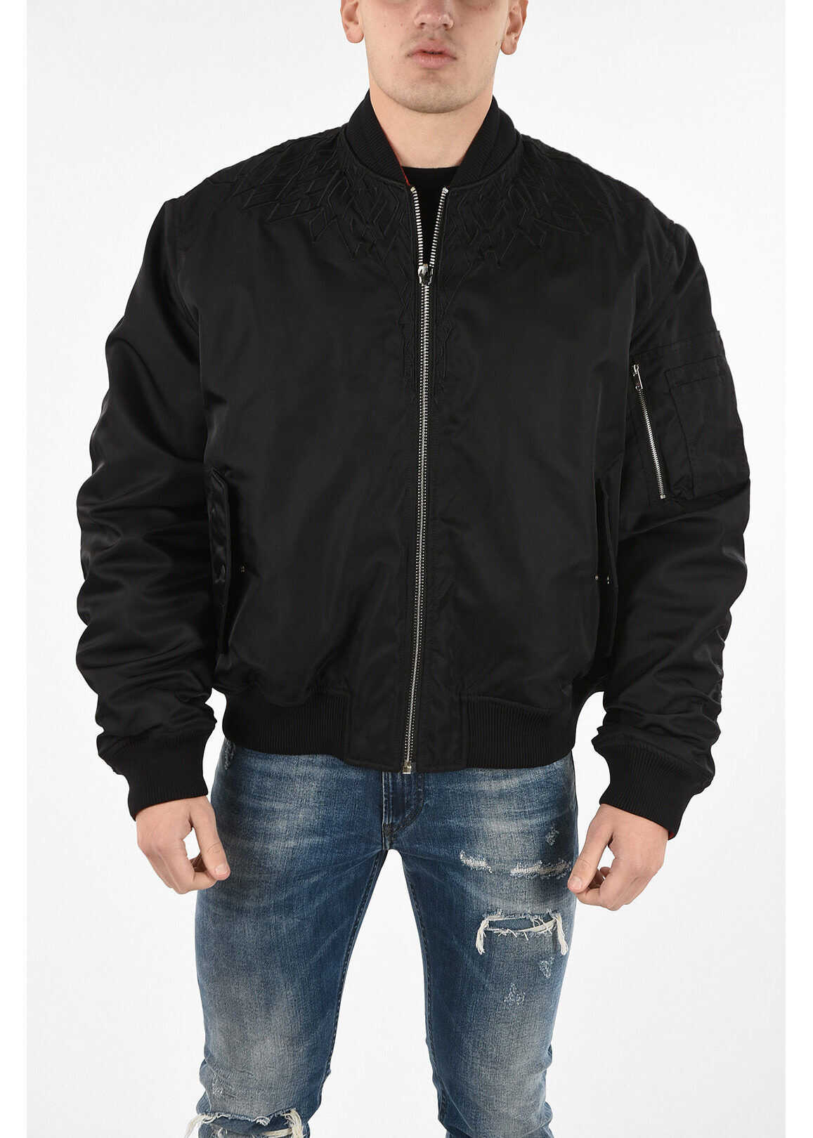 Marcelo Burlon Reversible WINGS quilted jacket RED imagine