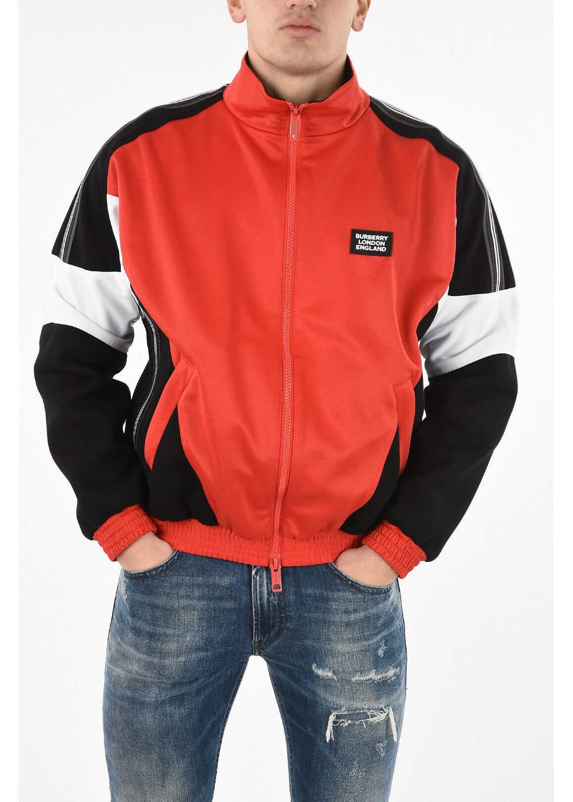 Burberry half zip sweatshirt RED imagine