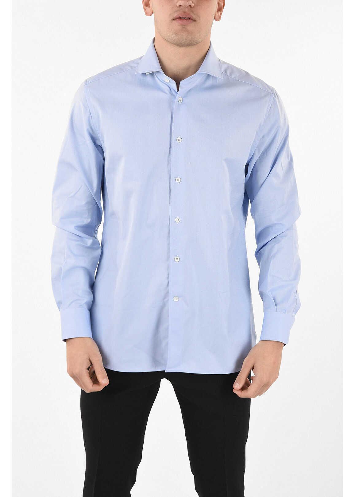 CORNELIANI spread collar shirt LIGHT BLUE imagine